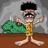 caveman martwiący się zdjęcia royalty free