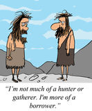 Caveman is not a hunter or gatherer Royalty Free Stock Images