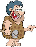 Caveman pointing. Cartoon illustration of a caveman pointing Royalty Free Stock Photography