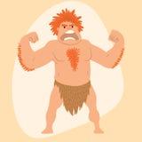 Caveman primitive stone age man cartoon neanderthal human character evolution vector illustration. Caveman primitive stone age man cartoon neanderthal human Royalty Free Stock Images