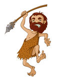 Caveman with spear Royalty Free Stock Image
