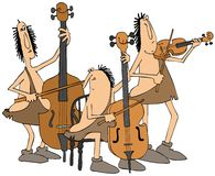 Caveman string trio Stock Photo