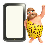 Caveman with Tab Stock Image