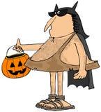 Caveman ubierający w górę nietoperza jako Zdjęcia Stock