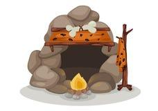 Caveman vector. Illustration of caveman vector Royalty Free Stock Photos