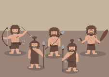 Caveman warrior flat graphic Stock Image