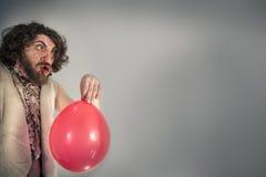 Caveman Yelling Balloon Royalty Free Stock Photos