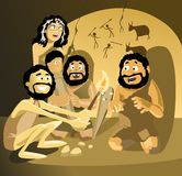 cavemen vektor illustrationer