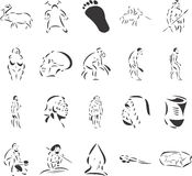 Cavemen Stock Image