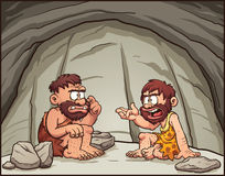 Cavemen dos desenhos animados Imagem de Stock Royalty Free