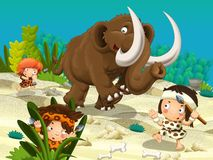 The cavemen - stone age - the hunting Stock Photography
