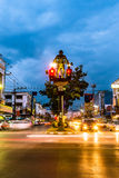 The Cavemen Traffic Lights of Krabi Town royalty free stock photo