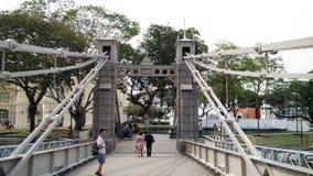 Cavenagh bridge over singapore river Stock Image