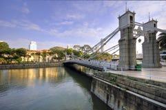 Cavenagh Bridge, Singapore River stock photo