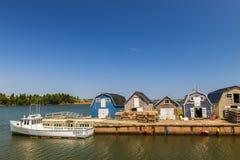 CAVENDISH Ö FÖR PRINS EDWARD, KANADA - JULI 15 2013: Fiska Royaltyfria Bilder