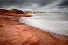 Cavendish beach as Hurricane Arthur approaches Stock Images