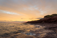Cavendish beach in the morning Royalty Free Stock Image