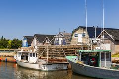 CAVENDISH, PRINCE EDWARD ISLAND, CANADA - JULY 15 2013: Fishing Stock Images