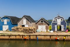 CAVENDISH, PRINCE EDWARD ISLAND, CANADA - JULY 15 2013: Fishing Stock Photography