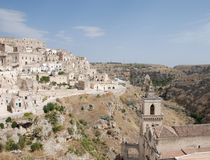 Caveoso Sassi, Matera Royalty Free Stock Photography