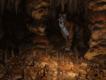 The Cavern. 3d render of The Cavern Stock Image