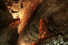 Cavern. Huge Cavern in Mexico, 80 meters tall ! 6 km deep. maybe the biggest of the world stock images