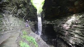 Cavern Cascade in Watkins Glen stock video