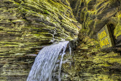 Cavern Cascade, Watkins Glen Stock Photos