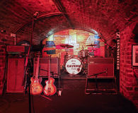 The Cavern Club in Liverpool. LIVERPOOL, UK - CIRCA JUNE 2016: The Cavern Club nightclub at 10 Mathew Street where The Beatles played royalty free stock photography