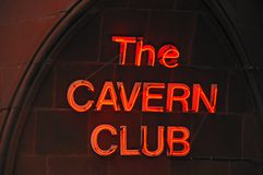 The Cavern Club Sign, Liverpool. Royalty Free Stock Photos
