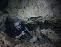 Cavern Diver Rises - Devils Den Royalty Free Stock Photo