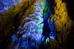 Cavern in Guilin, China. Reed Flute Cavern in Guilin, China royalty free stock photography