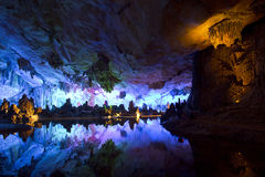 Cavern and water in Guilin royalty free stock images