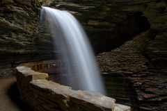Cavern Waterfall in Watkins Glen State Park Stock Photography