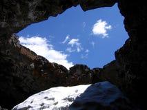 Caverna ai crateri del monumento nazionale della luna Fotografia Stock