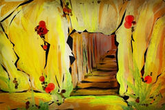 caverna - arte digital Foto de Stock Royalty Free