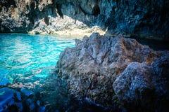 Caverna azul em Paxos Imagens de Stock