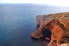 Caverna blu del Grotto, Zurrieq, Malta fotografia stock libera da diritti