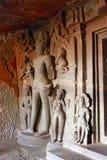 Caverna 7, Bodhisattva à esquerda da entrada do santuário Cavernas de Aurangabad, Aurangabad, Maharashtra Fotografia de Stock