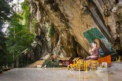 Caverna Buddha 2 della tigre Fotografia Stock