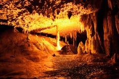 Caverna colorida do cársico Fotos de Stock