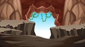 Caverna com uma entrada ilustração royalty free