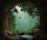 Caverna da fantasia nas montanhas Fotografia de Stock Royalty Free