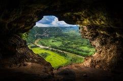 A caverna da janela Imagens de Stock Royalty Free
