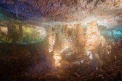 Caverna das estalactites de Avshalom Fotografia de Stock Royalty Free