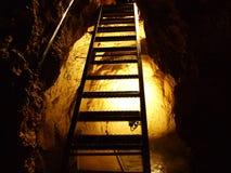 Caverna de cristal Kobelwald ou dado Kristallhöhle Kobelwald Kristallhohle Kobelwald ou Kristallhoehle Kobelwald imagem de stock royalty free
