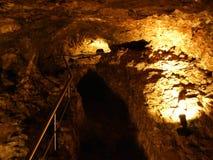 Caverna de cristal Kobelwald ou dado Kristallhöhle Kobelwald Kristallhohle Kobelwald ou Kristallhoehle Kobelwald imagens de stock