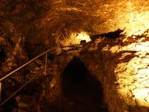 Caverna de cristal Kobelwald ou dado Kristallhöhle Kobelwald Kristallhohle Kobelwald ou Kristallhoehle Kobelwald fotografia de stock royalty free