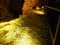 Caverna de cristal Kobelwald ou dado Kristallhöhle Kobelwald Kristallhohle Kobelwald ou Kristallhoehle Kobelwald fotos de stock royalty free