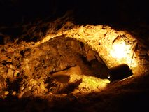 Caverna de cristal Kobelwald ou dado Kristallhöhle Kobelwald Kristallhohle Kobelwald ou Kristallhoehle Kobelwald foto de stock royalty free